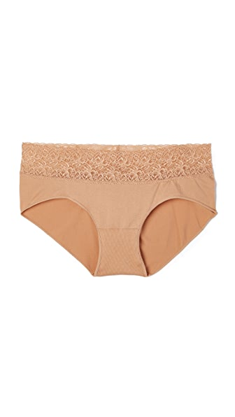 Rosie Pope Seamless Maternity Panties with Lace - Nude
