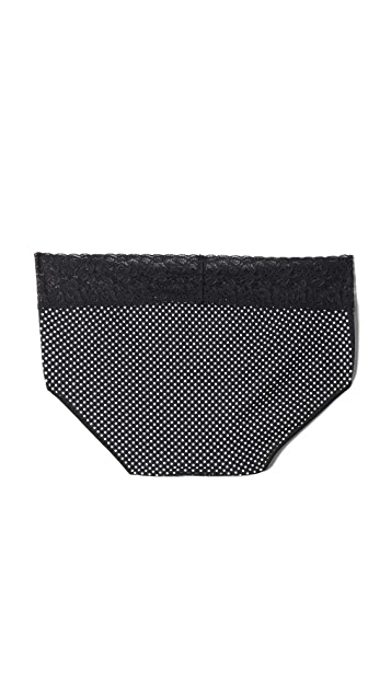 Rosie Pope Seamless Hipster Panties with Lace