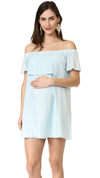 Rosie Pope Camille Dress In Ice Blue