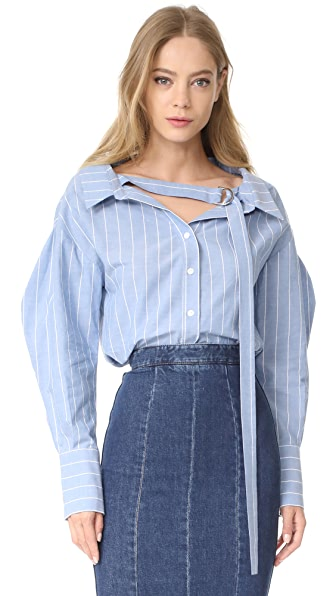 Rejina Pyo Rosa Shirt - Blue Stripe