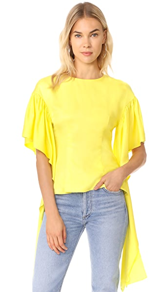 Rejina Pyo Kara Blouse - Citrus Yellow