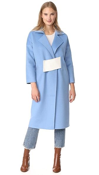 Rejina Pyo Kate Coat In Sky Blue/Oat
