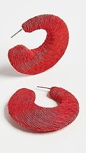 Rebecca De Ravenel 新月形圈式耳环