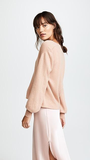 Ryan Roche V Neck Cashmere Sweater