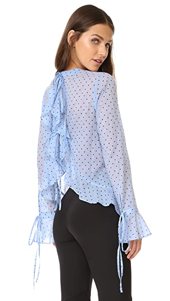 Robert Rodriguez Polka Dot Open Back Top