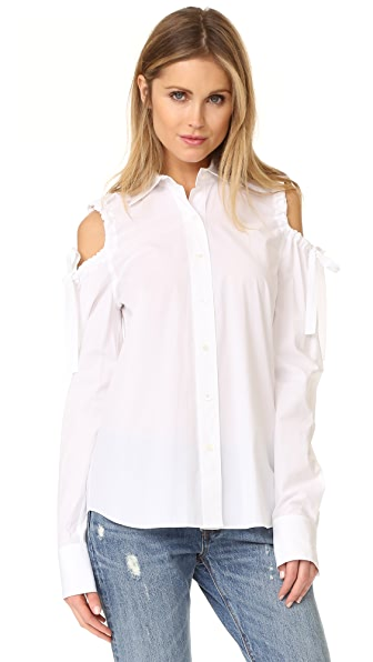 Robert Rodriguez Tie Sleeve Shirt - White