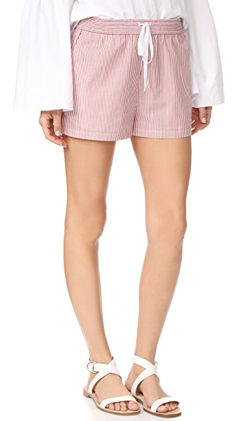 Robert Rodriguez Striped Shorts - Red