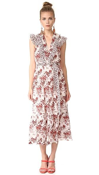Robert Rodriguez Длинное многоуровневое платье без рукавов