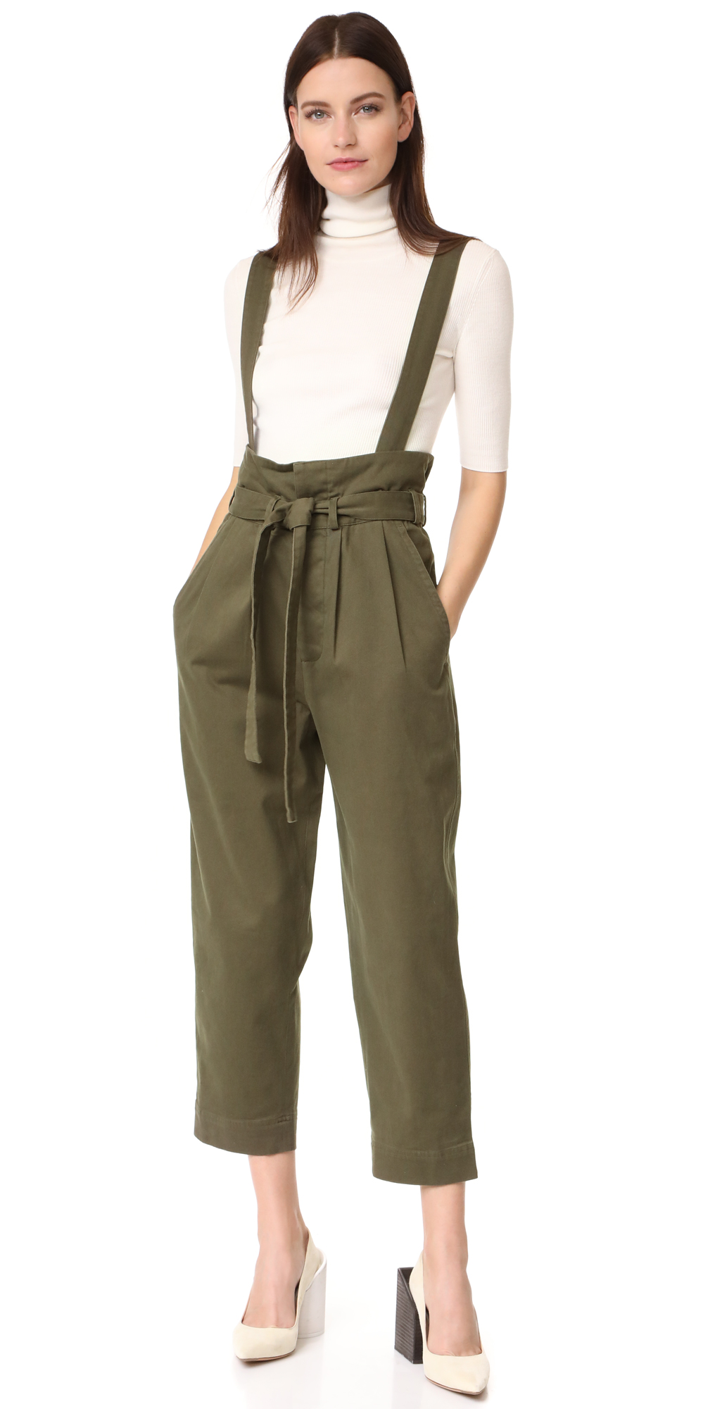 High Waisted Trousers with Waist Flap Robert Rodriguez