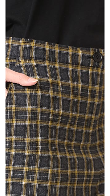 Robert Rodriguez High Waisted Plaid Trousers