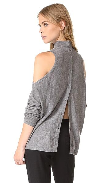 Robert Rodriguez Merino Sweater Cold Shoulder - Heather Grey
