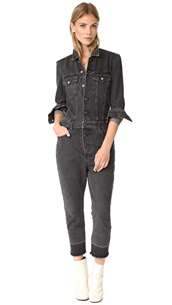 Robert Rodriguez Denim Jumpsuit - Black Denim