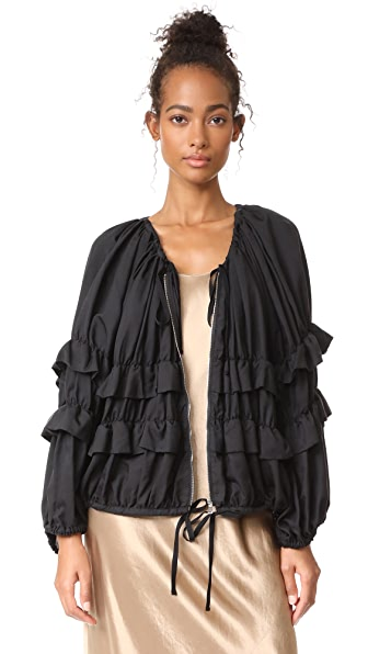 Robert Rodriguez Oversized Ruffle Jacket - Black