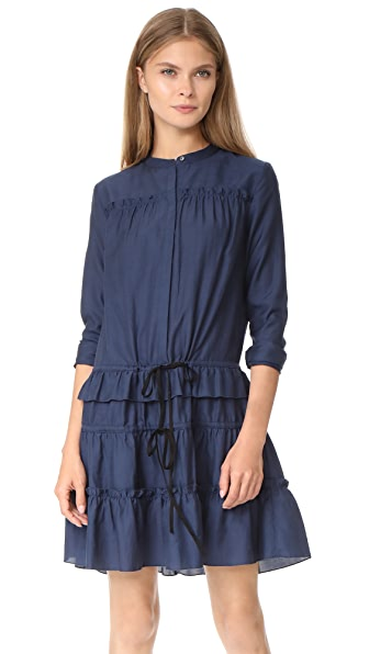 Robert Rodriguez Ruffle Tiered Dress In Midnight