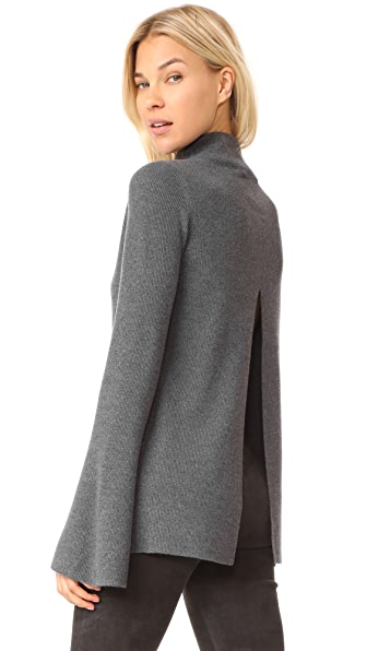 Robert Rodriguez Bell Sleeve Sweater In Dark Grey