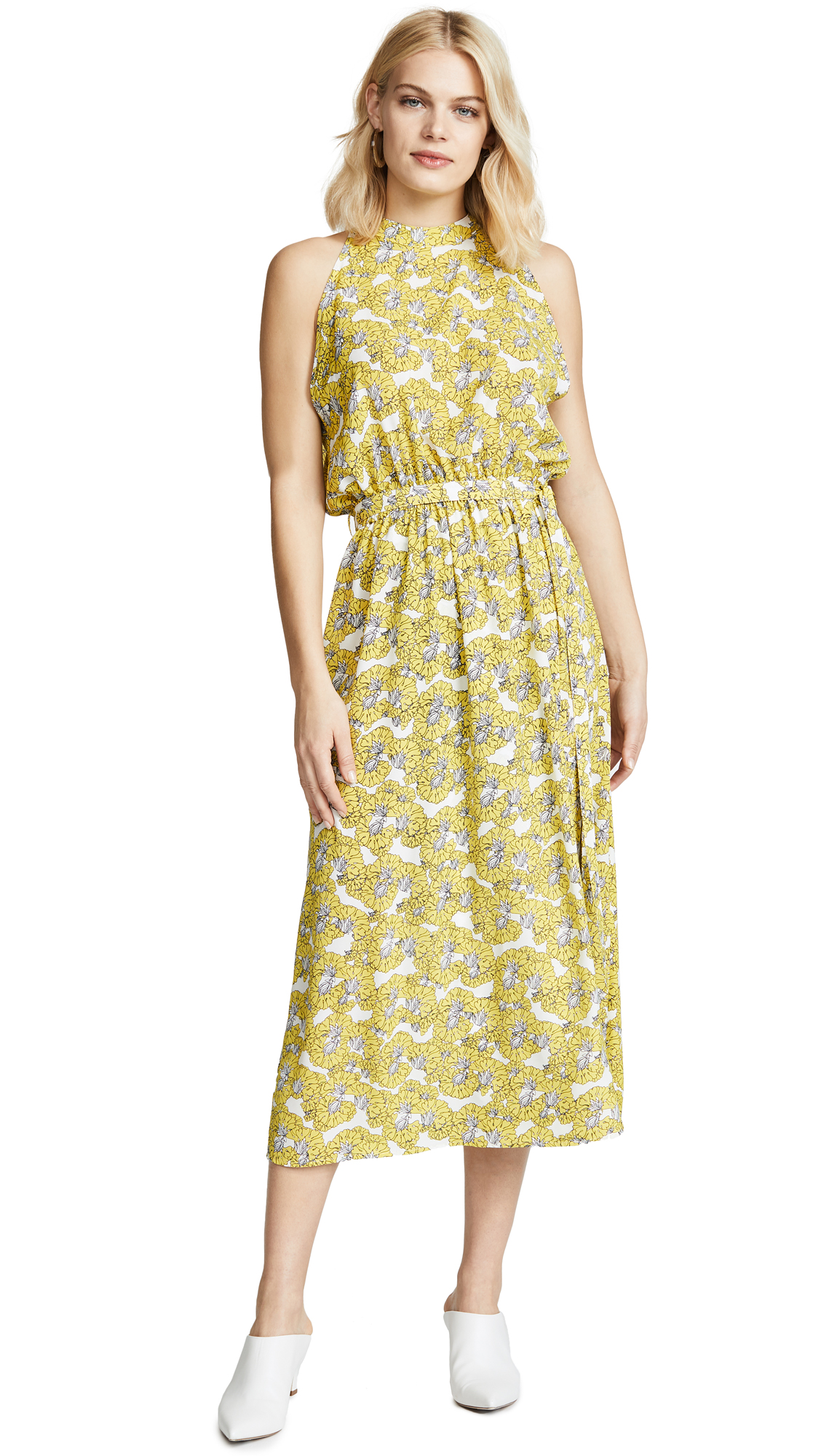 Robert Rodriguez Dania Floral Dress In Yellow Floral
