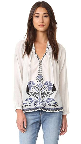 Roberta Roller Rabbit Nadia Embroidered Top