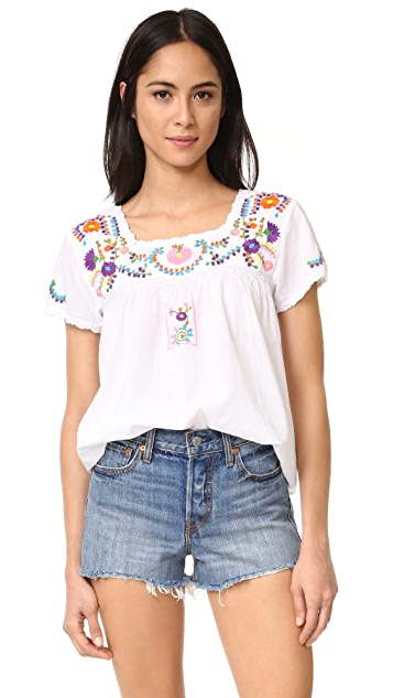 Roller Rabbit Krizia Embroidered Top