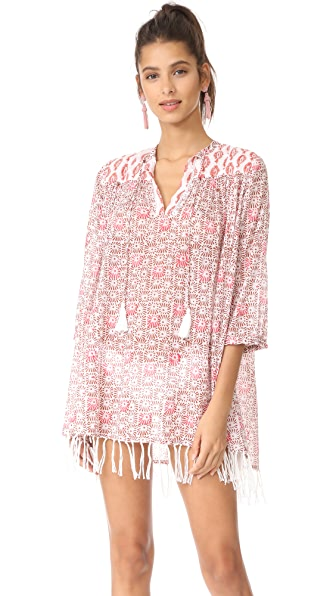 Roberta Roller Rabbit Sanav Serafina Tunic with Fringes In Coral