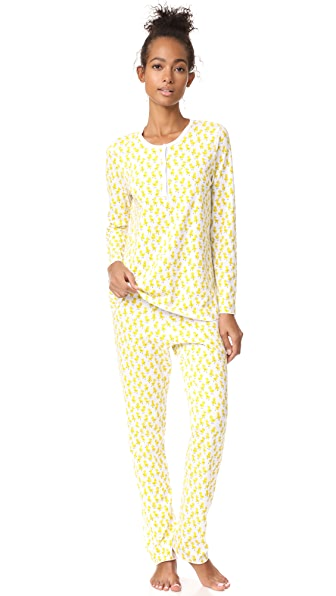 Roberta Roller Rabbit Rudy & the Ducks PJ Set - Yellow
