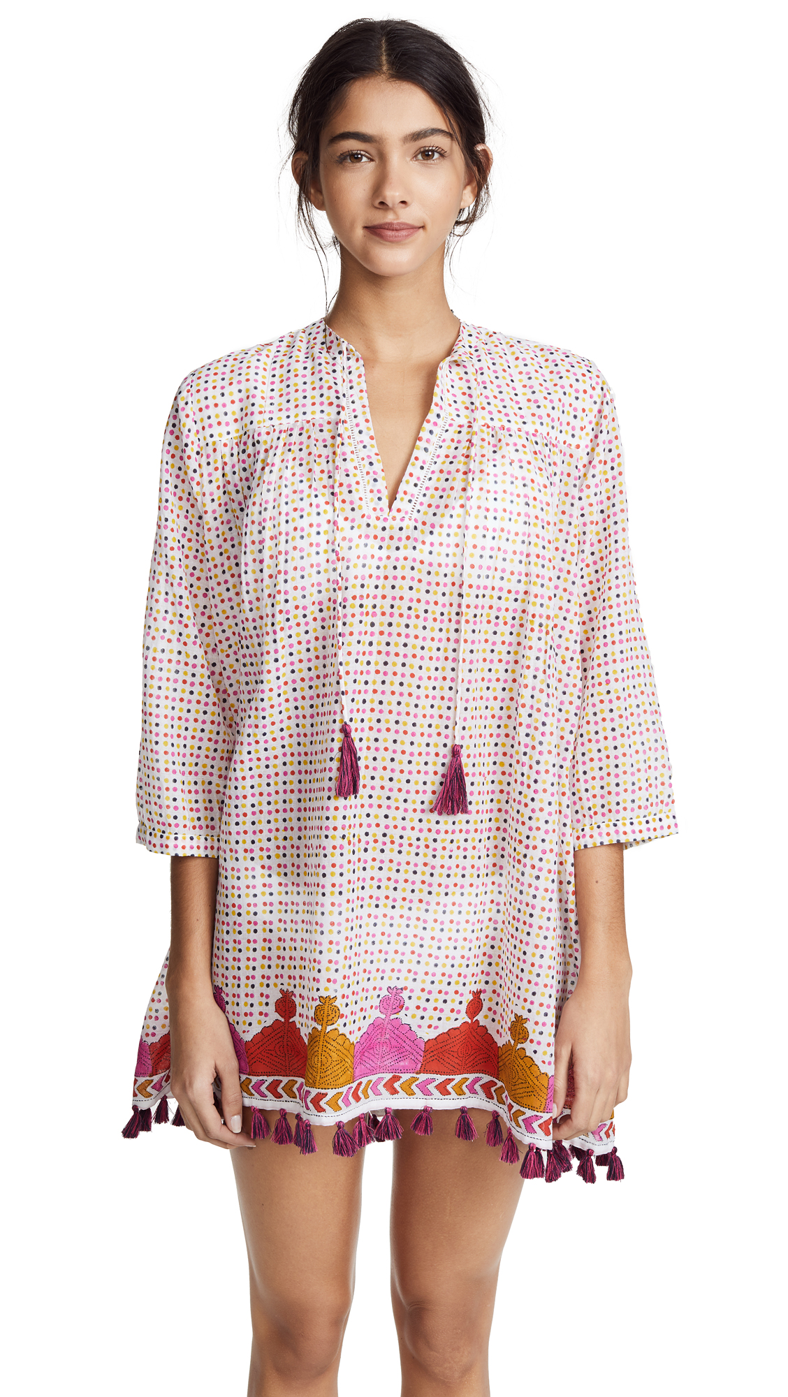 Roller Rabbit Tarou Dots Serafina Tunic In Pink