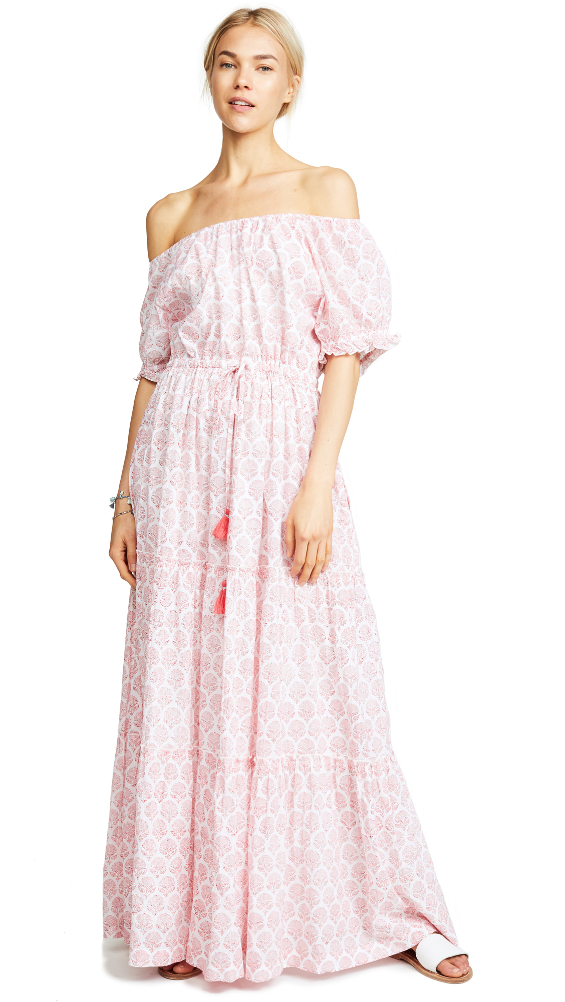 ROLLER RABBIT Rosemary Abha Dress in Coral