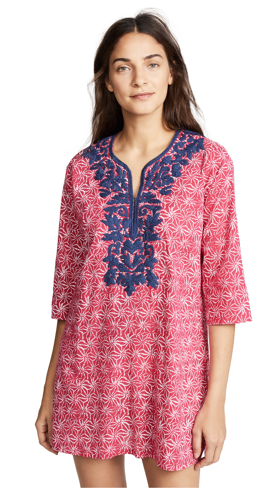 ROLLER RABBIT URCHIN DYE INEZ KURTA COVER UP