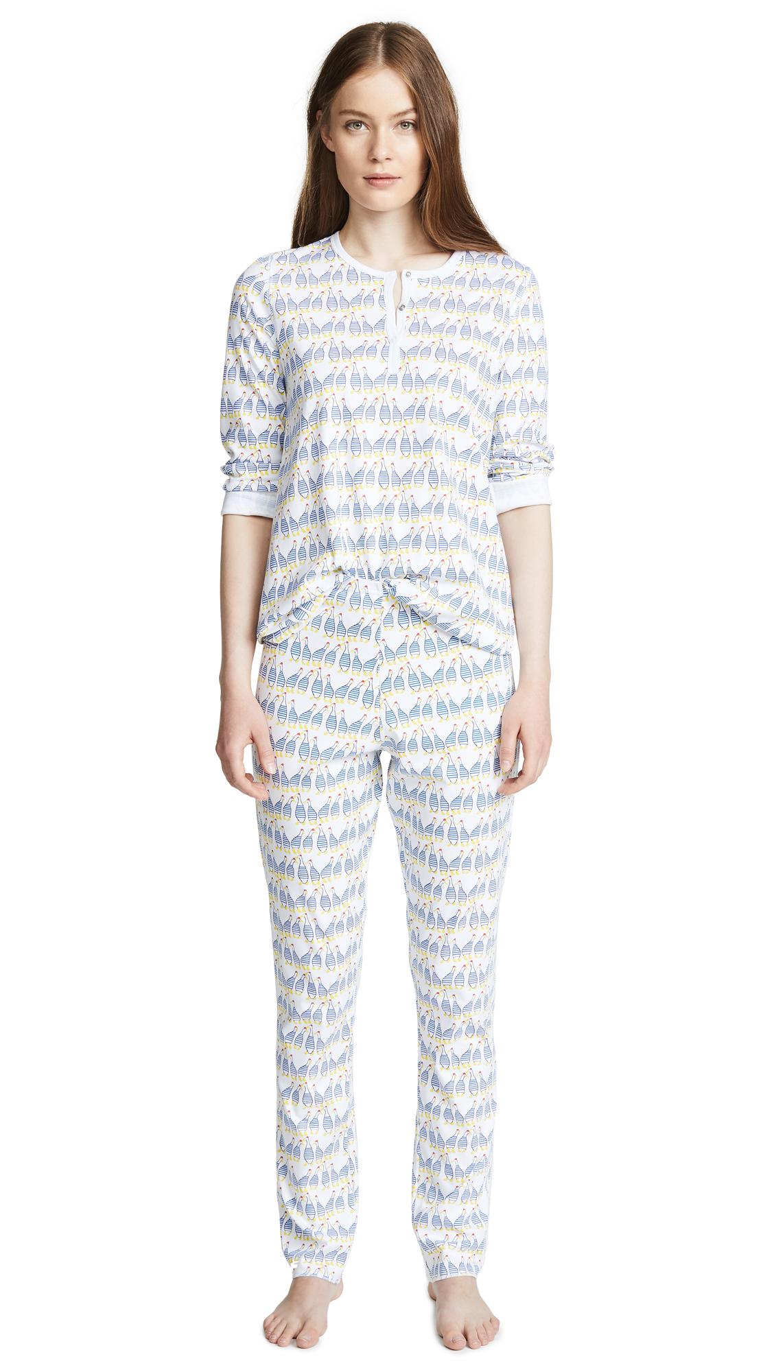 Roller Rabbit Sissou Pajama Set In Blue