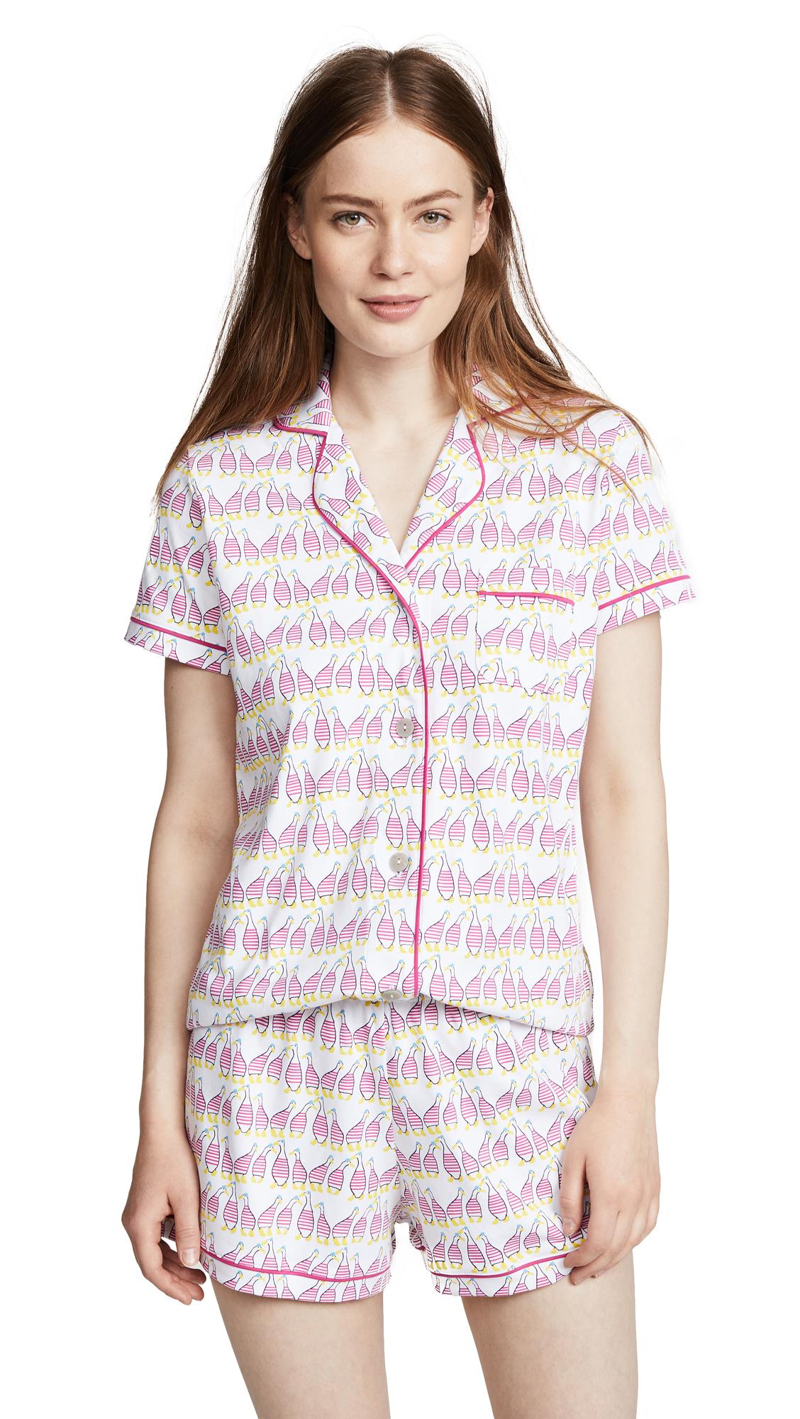 Roller Rabbit Sissou Polo Pajama Set In Pink