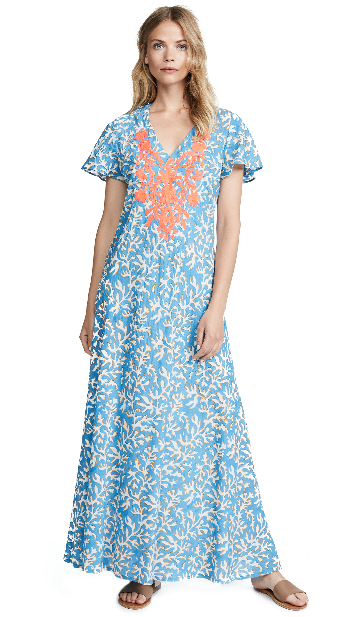 Roller Rabbit Reef Giana Dress In Blue