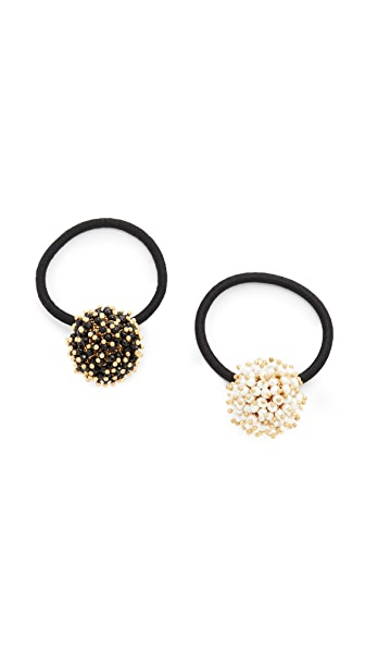 Rosantica Pom Pom Hair Ties at Shopbop