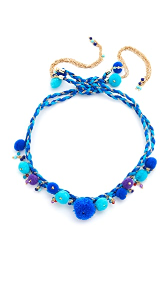 Rosantica Sombrero Choker Necklace / Anklet In Blue