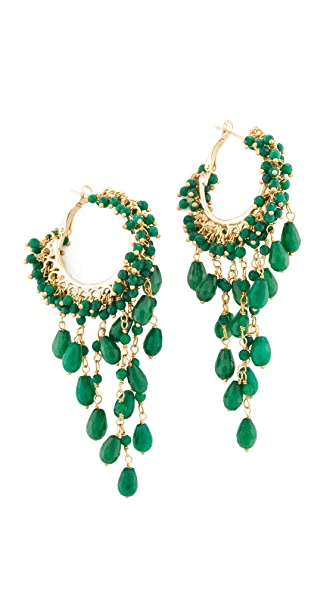 Rosantica Pascoli Earrings - Green