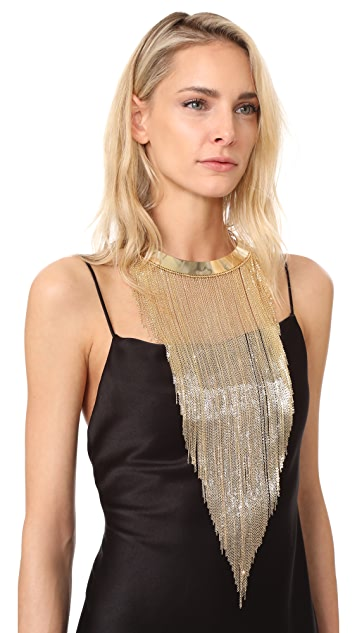 Rosantica Collar Necklace with Chain Fringes