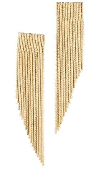Rosantica Chain Linear Drop Earrings - Gold
