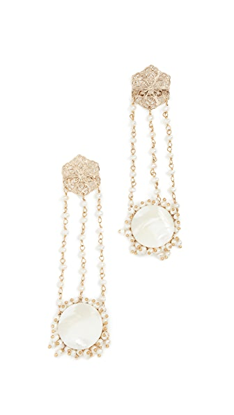 Rosantica Corte Earrings In Pearl