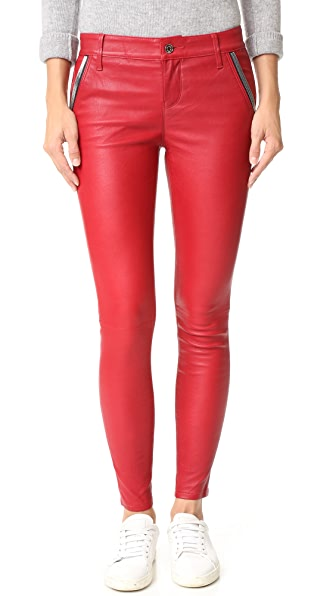 RtA Lucy Leather Pants - Lipstick