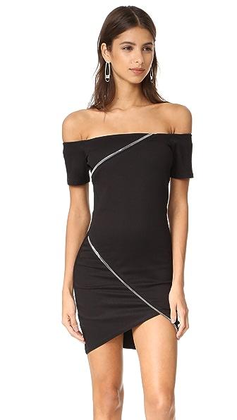 RtA Lilou Dress - Black Rinse