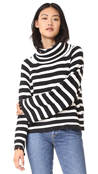 RtA Alexis Turtleneck Sweater - Black White