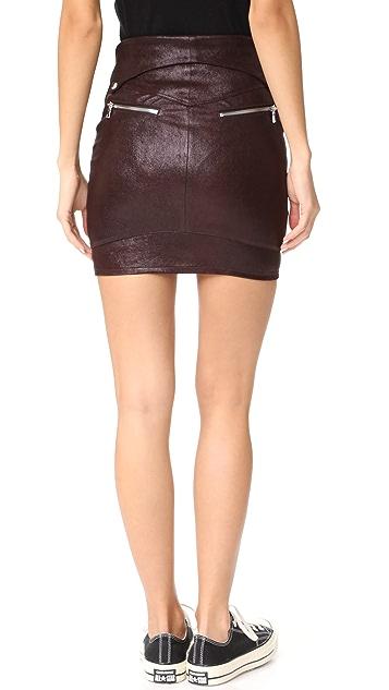 RtA Gisele Leather Skirt