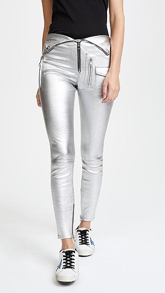 RtA Diavolina Metallic Leather Pants