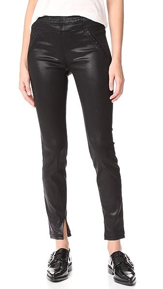 RtA Sonia Waxed Jeans In Black Wax