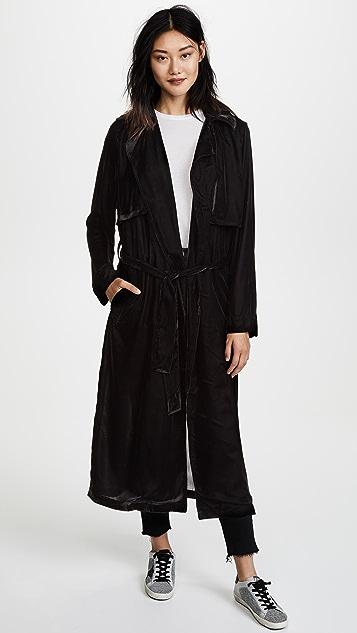 RtA Karina Velvet Trench Coat