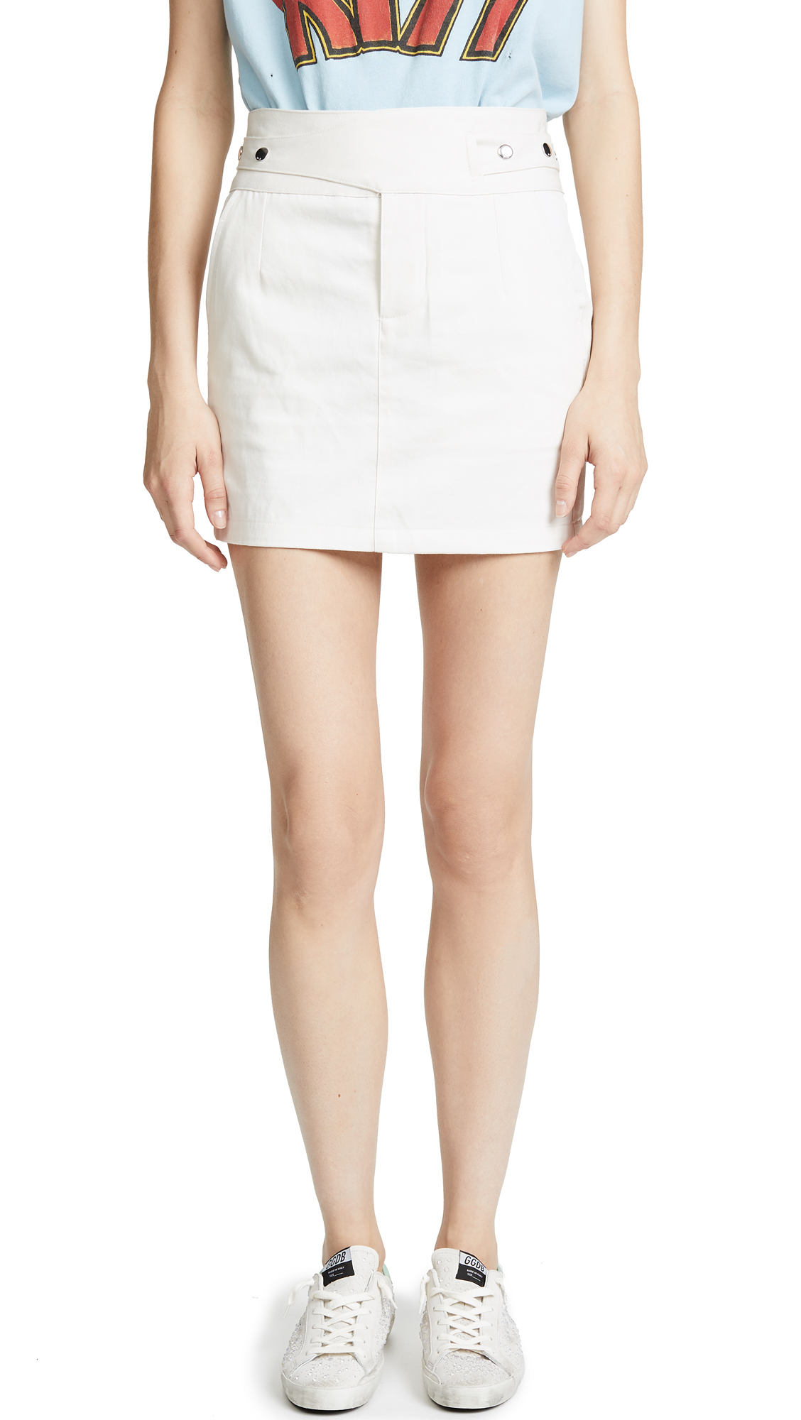RtA Skylar Skirt In Vintage White