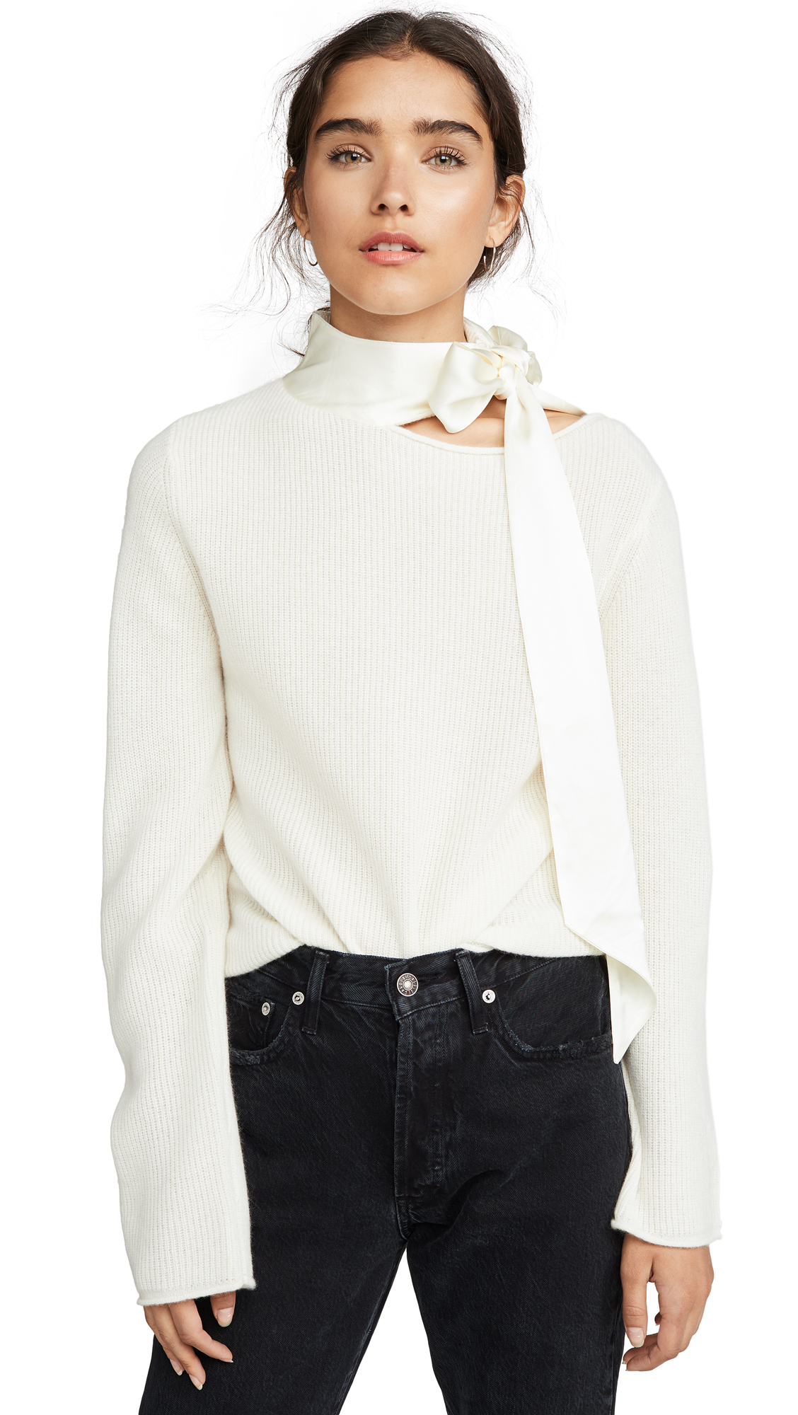 Buy RtA online - photo of RtA Millie Cashmere Top