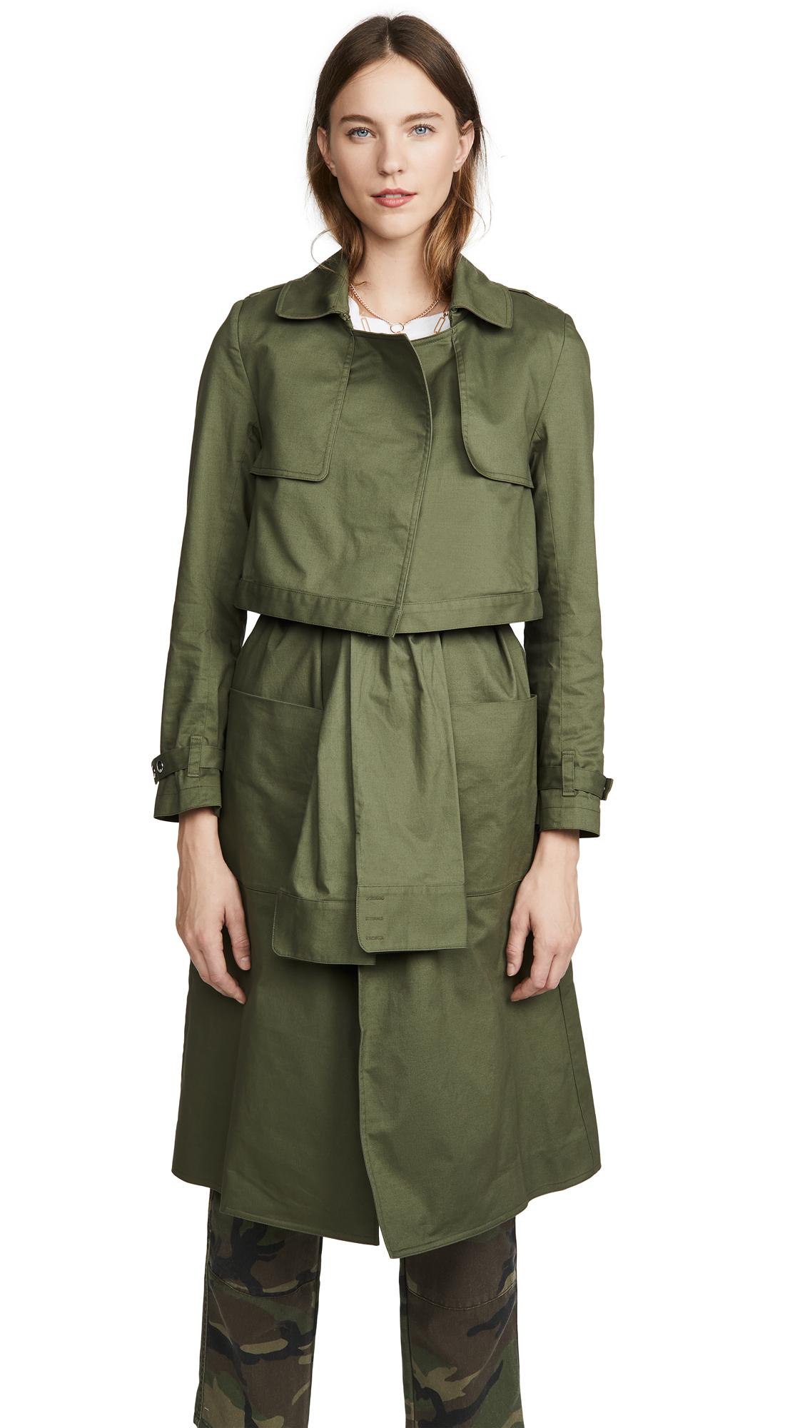 Buy RtA Harlow Trench Coat online beautiful RtA Jackets, Coats, Trench Coats