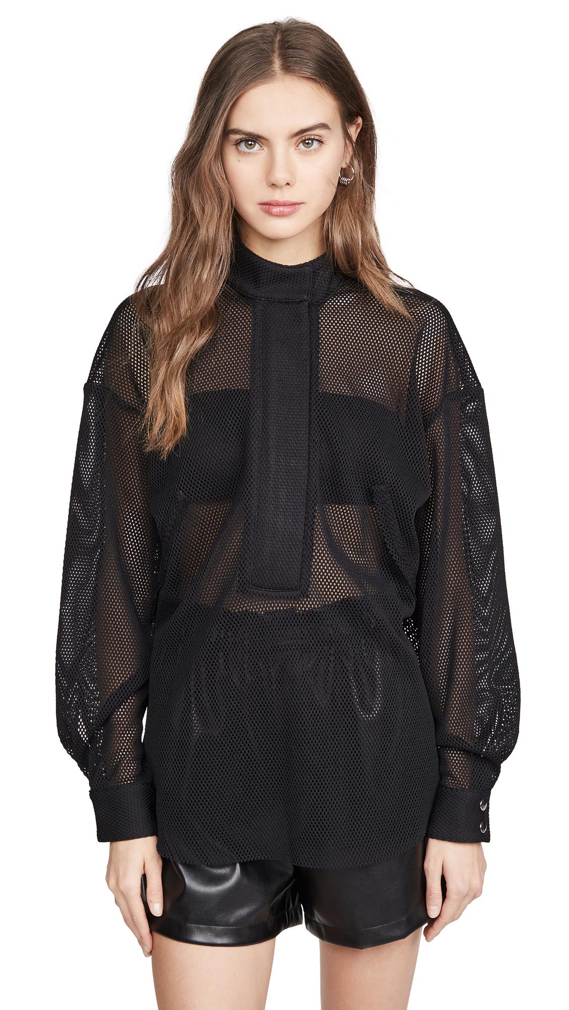 RtA Josie Half-Zip Shirt - 70% Off Sale