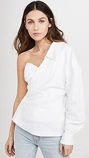 RtA Chiara Asymmetric Corset Shirt