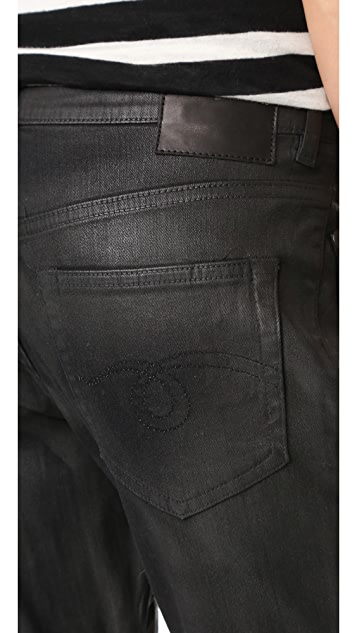 R13 X Over Waxed Jeans