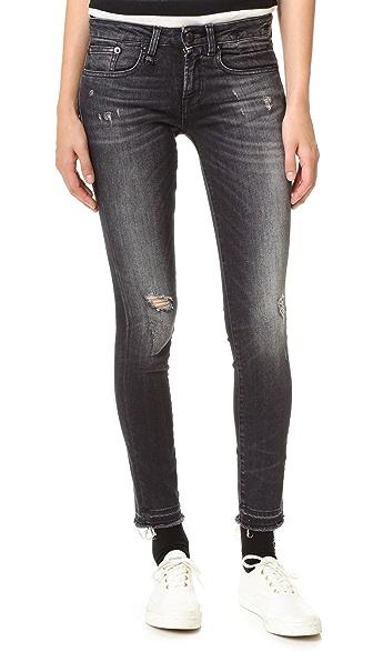 R13 Alison Cropped Jeans In Strummer Black
